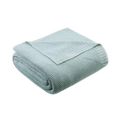 King Bree Knit Bed Blanket Aqua