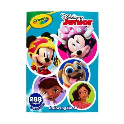 Crayola 288pg Disney Junior Coloring Book with Sticker Sheets