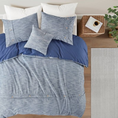 Reese Organic Cotton Oversized Comforter Cover Set - Clean Spaces