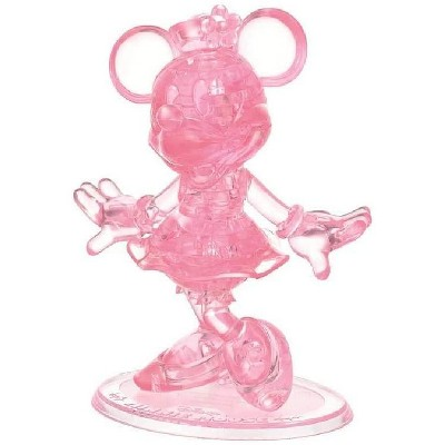 University Games Disney Minnie Mouse 43 Piece 3D Crystal Jigsaw Puzzle | Pink
