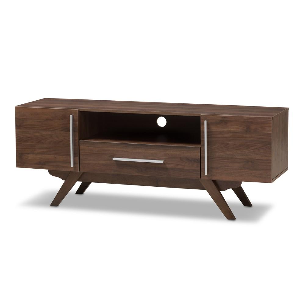 Ashfield Midcentury Modern Walnut Finished Wood TV Stand Brown - Baxton Studio