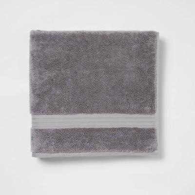 Antimicrobial Oversized Bath Towel Dark Gray - Total Fresh