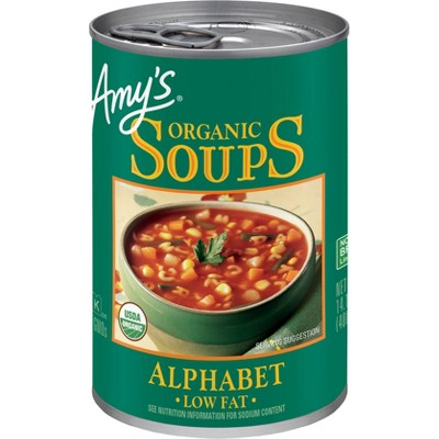 Amy's Organic Fat Free Alphabet Soup - 14.1oz