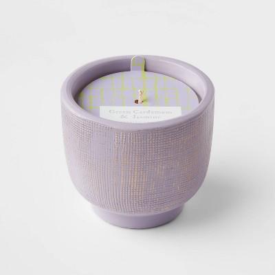 8.5oz Global Terracotta Jar Green Cardamom and Jasmine Candle - Opalhouse™