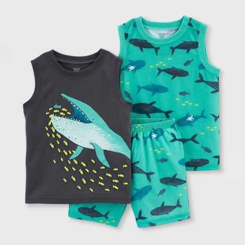 Toddler Boys' 3pc Whale Pajama Set - Just One You® made by carter's Blue - image 1 of 3