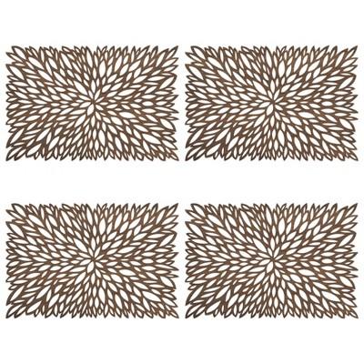 4pk Wood Laser Cut Placemats - Saro Lifestyle