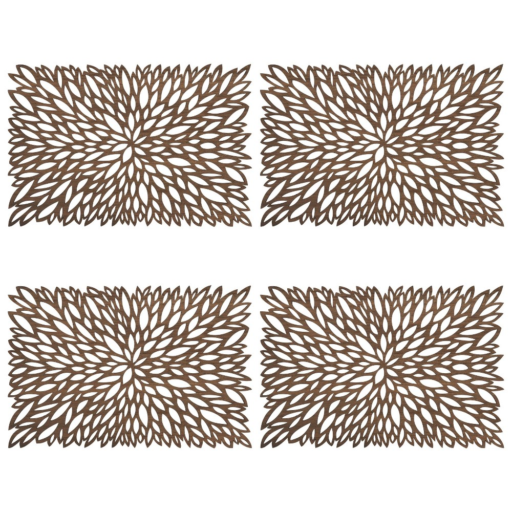 Image of 4pk Wood Laser Cut Placemats - Saro Lifestyle