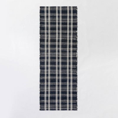 Windsong Indoor/Outdoor Plaid Scatter Rug Navy - Threshold™ designed with Studio McGee