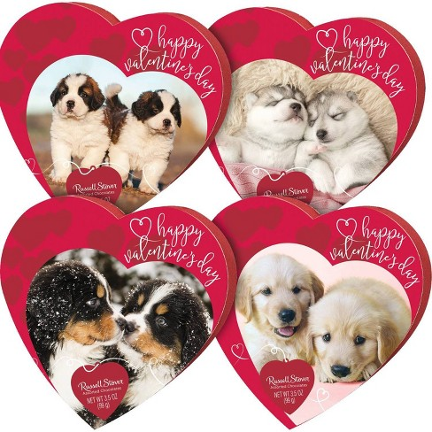 Russell Stover Valentine's Assorted Chocolates Pets Heart - 3.5oz - image 1 of 1