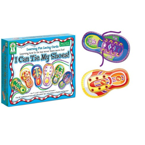 Key Education I Can Tie My Shoes! Learning Fun Lacing Card, set of 6 - image 1 of 1