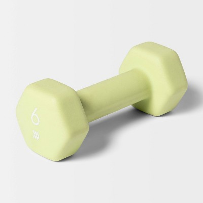 Dumbbell 6lbs Lime - All in Motion™