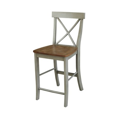 """24"""" X Back Counter Height Stool - International Concepts"""