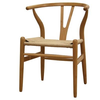 Genial Wishbone Wood Y Chair Natural   Baxton Studio