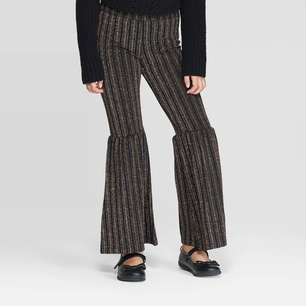 60s 70s Kids Costumes & Clothing Girls & Boys Girls39 Bell Bottom Metallic Stripe Pants - art class8482 $15.29 AT vintagedancer.com