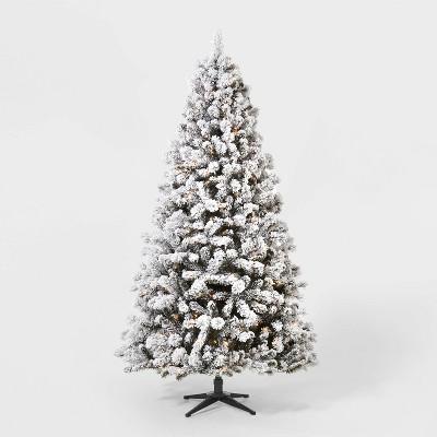 7ft Pre-Lit Flocked Douglas Fir Artificial Tree Clear Lights with AutoConnect - Wondershop™