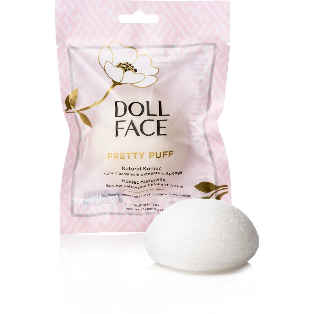 Image of Doll Face Pretty Puff Natural Konjac Sponges - 1ct