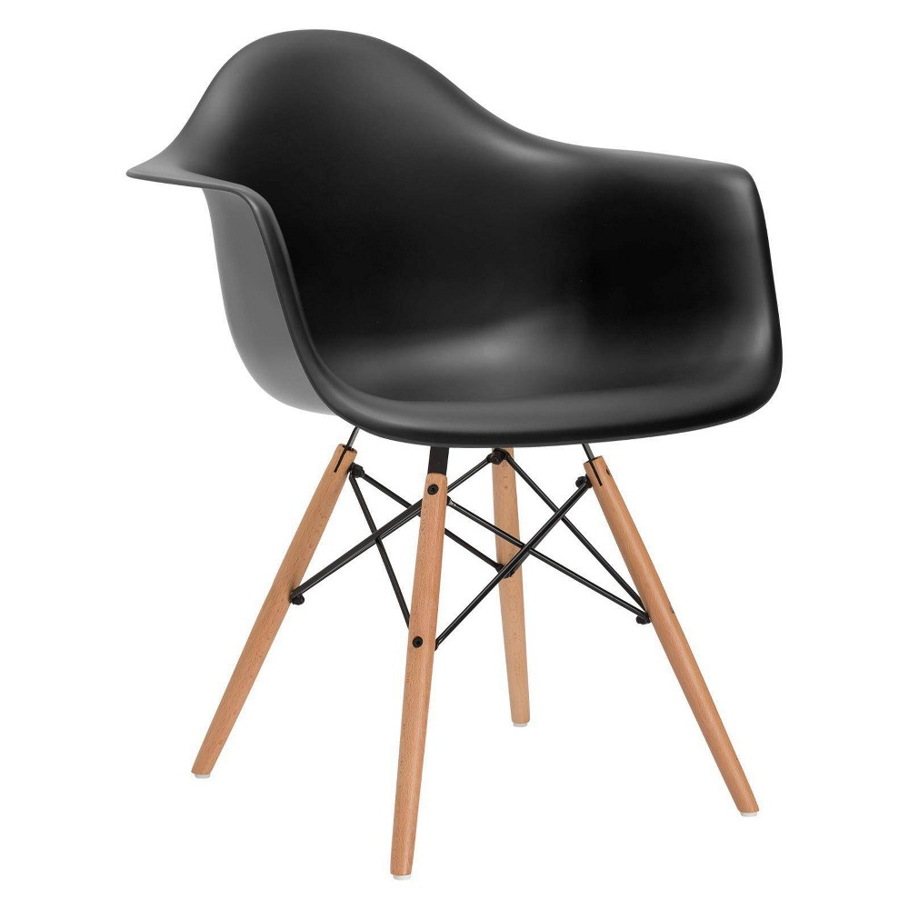 Image of Bianca Mid Century Arm Chair Black - Poly & Bark
