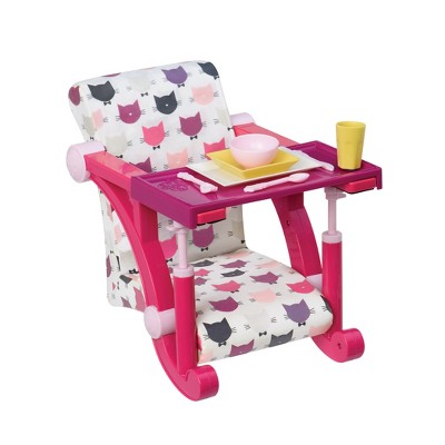 "Our Generation High Chair Accessory for 18"" Dolls - Let's Hang Clip-On Chair (Cats)"