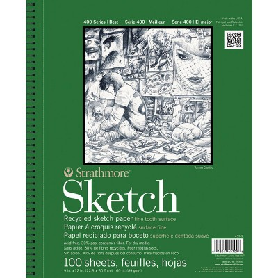 Strathmore 400 Series Recycled Sketch Pad, 11 x 14 Inches, 60 lb, 100 Sheets