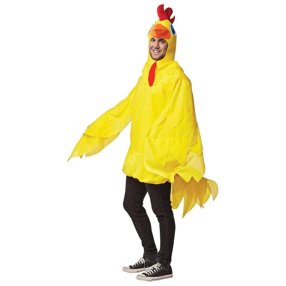 Image of Halloween Men's Morris Apparel Chicken Full Body Costume, Size: Small, MultiColored