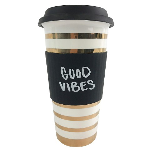 """Good Vibes"" Travel Mug - Threshold™ - image 1 of 1"