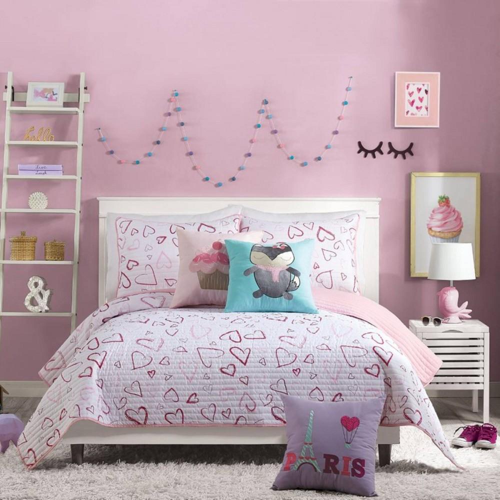 Image of 2Pc Twin Desiree Quilt Set Pink - Urban Playground