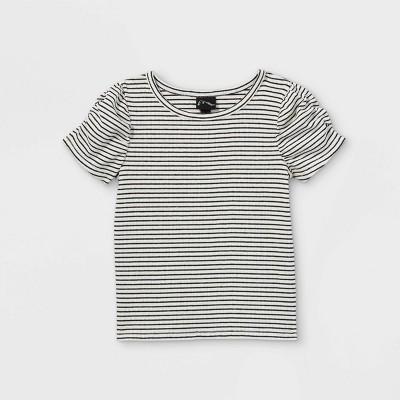 Toddler Girls' Ruched Rib Short Sleeve T-Shirt - art class™