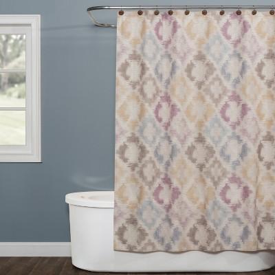 Davidson Shower Curtain Multi - Colored - Saturday Knight Ltd.