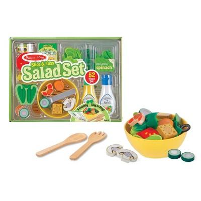 Melissa & Doug Slice and Toss Salad Play Food Set - 52pc Wooden and Felt