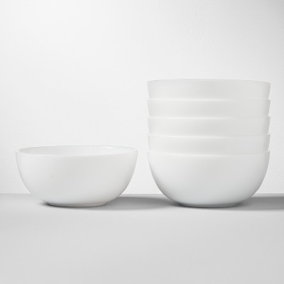 Glass Bowls 16oz White Set of 6 - Made By Design™