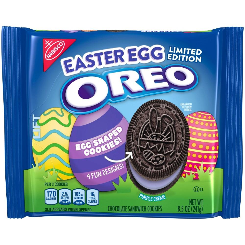 Oreo Easter Egg Shaped Sandwich Cookies - 8.5