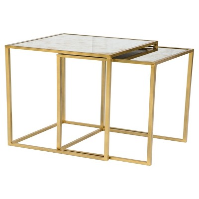 Vintage Mirror End Table Gold (Set Of 2)   Threshold by Threshold