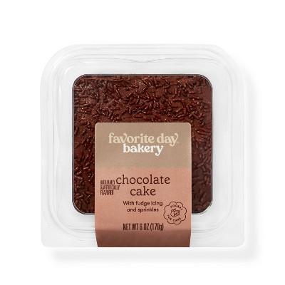 Chocolate Cake Slice - 6oz - Favorite Day™