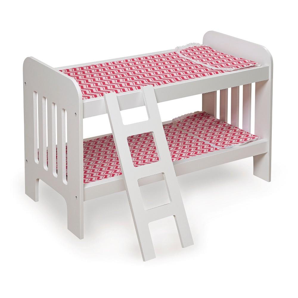 Badger Basket Doll Bunk Bed with Ladder - Chevron Print