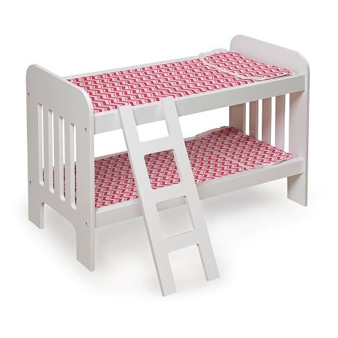 Badger Basket Doll Bunk Bed With Ladder Chevron Target