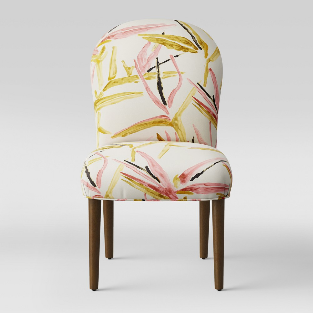 Caracara Rounded Back Dining Chair Pink/Cream Tropical Grass - Opalhouse, Pink & Cream Tropical Grass