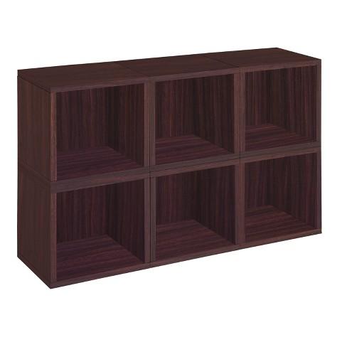 Way Basics 6 Stackable Eco Cubes Storage, Espresso - Formaldehyde Free - Lifetime Guarantee - image 1 of 4