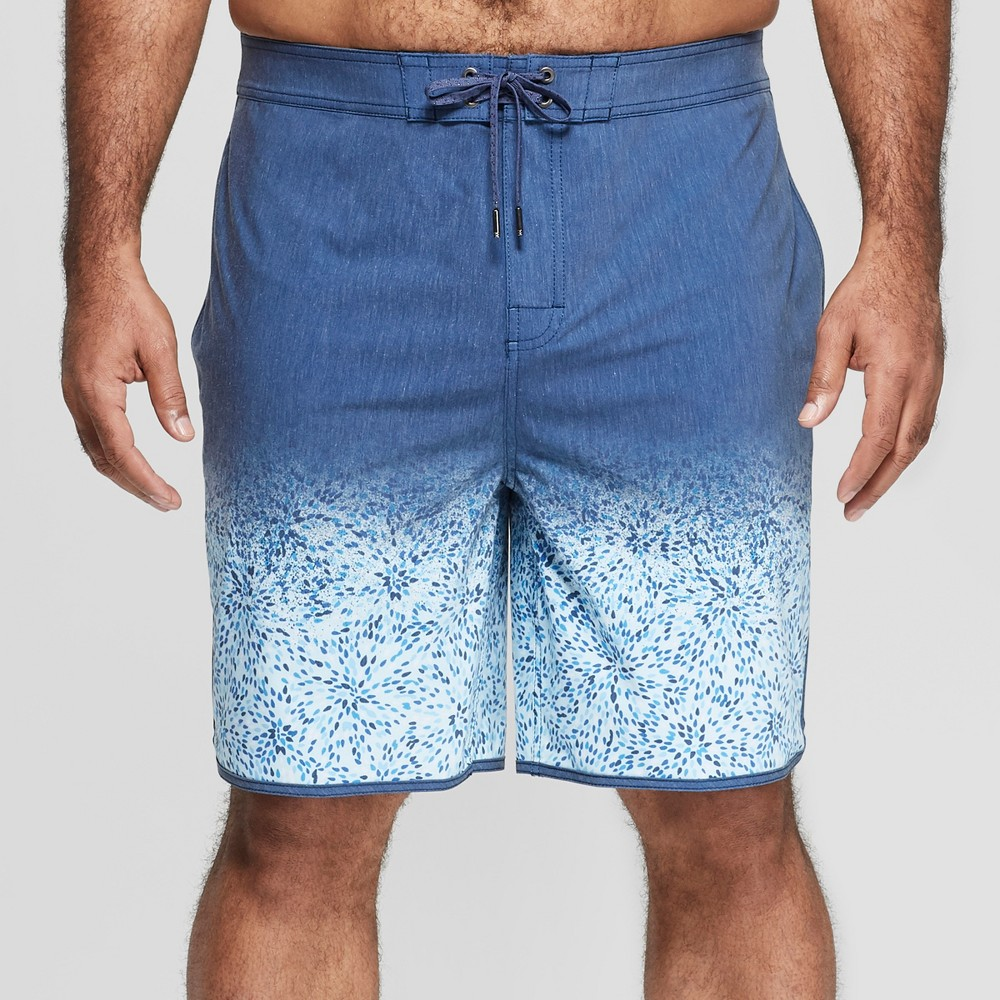 Men's Big & Tall 8.5 Radial Board Shorts - Goodfellow & Co Blue 52