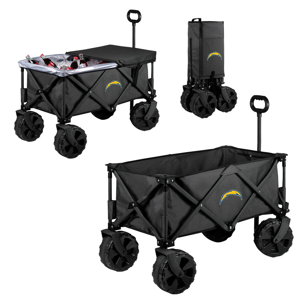 NFL Los Angeles Chargers Picnic Time Elite Cooler with All-Terrain Wheels - Dark Gray