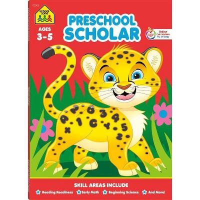 School Zone Preschool Scholar Workbook