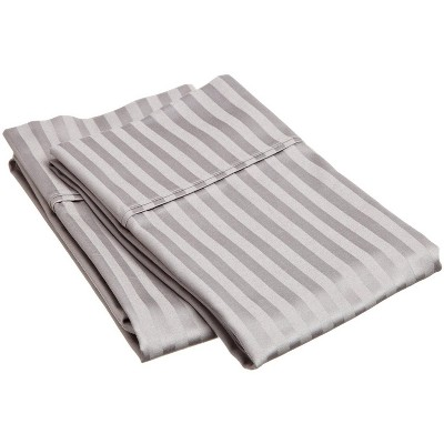 Premium 400-Thread Count Cotton Stripe 2-Piece Pillowcase Set - Blue Nile Mills