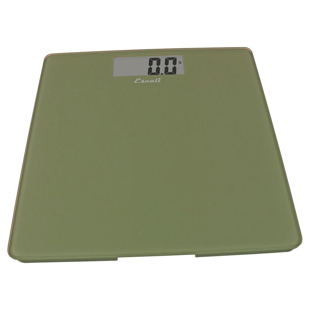 Glass Platform Bathroom Scale Escali, Green