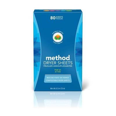 Method Fresh Air Dryer Sheets - 80ct
