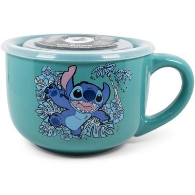 Silver Buffalo Disney Lilo & Stitch Stay Weird 24oz Ceramic Soup Mug w/ Lid