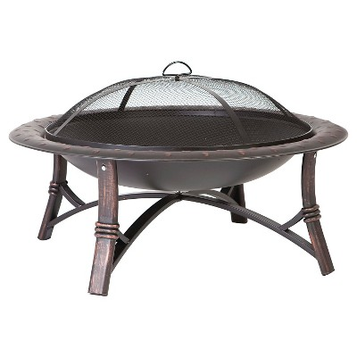 35  Fire Sense Woodburning Roman Fire Pit