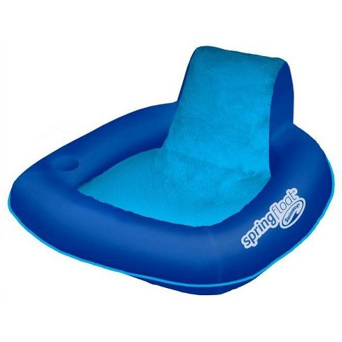 Astounding Swimways Spring Float Sunseat Floating Inflatable Swimming Pool Lounge Chair Andrewgaddart Wooden Chair Designs For Living Room Andrewgaddartcom