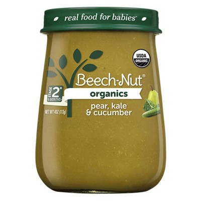 Beech-Nut Organics Pear, Kale & Cucumber Baby Food Jar - 4oz