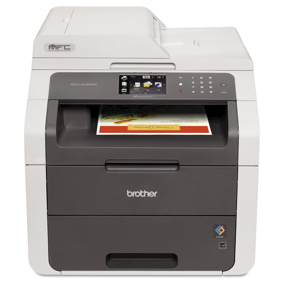 Brother Mfc-9130CW Digital Color All-in-One Printer with Wireless Networking - Black (MFC9130CW) The Brother Mfc-9130CW digital color all-in-one printer provides low cost, fast, and reliable color printing. Ideal for small businesses, it packs big business features into an affordable, all-in-one copier, fax machine, wireless printer and scanner. TN221 and TN225 series toner cartridges are sold separately.