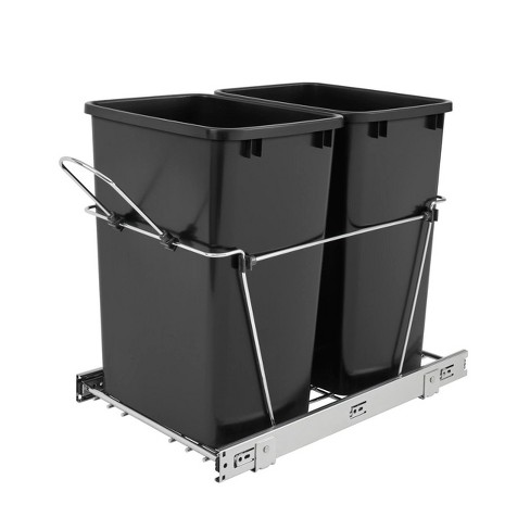 Rev A Shelf RV-18KD-18C S Double 35 Quart Sliding Pull Out Waste Bin Container - image 1 of 4