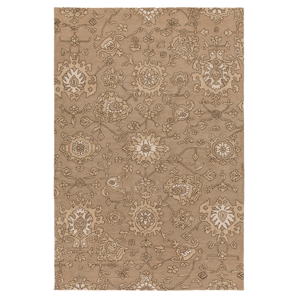 Taupe (Brown) Abstract Tufted Area Rug - (6'x9') - Surya
